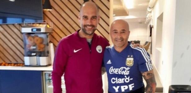 Sampaoli se encontra com Guardiola em Manchester