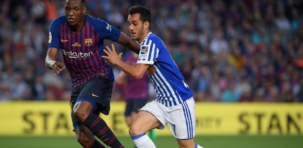 Yerry Mina chegou ao Barcelona no meio da temporada e teve atuações irregulares