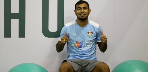 Sornoza em treino do Fluminense; meia está perto de trocar o clube pelo Corinthians