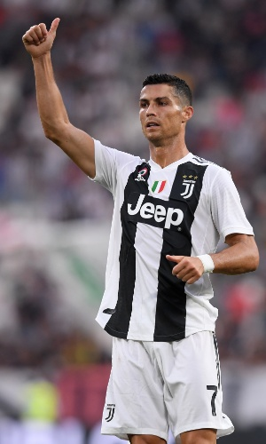 O atacante português Cristiano Ronaldo em ação pela Juventus