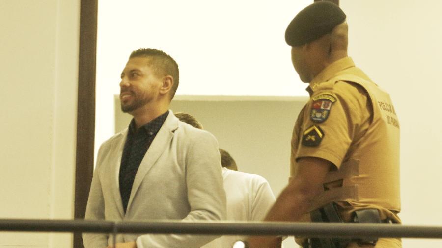 Edison Brittes Júnior durante audiência do caso Daniel  - FRANKLIN FREITAS/ESTADÃO CONTEÚDO