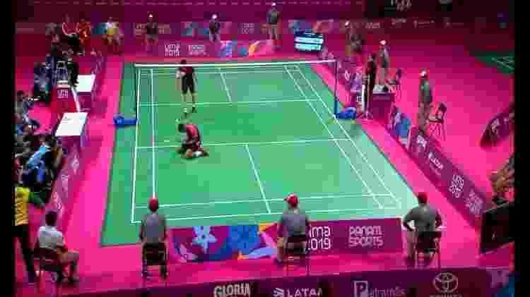 Ouro de Ygor Coelho no badminton: Record usou a tecnologia para transmitir via celular - Reprodução - Reprodução