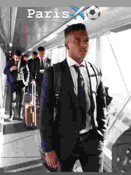 Rodrygo em viagem a Paris para duelo entre Real Madrid e PSG - Reprodução