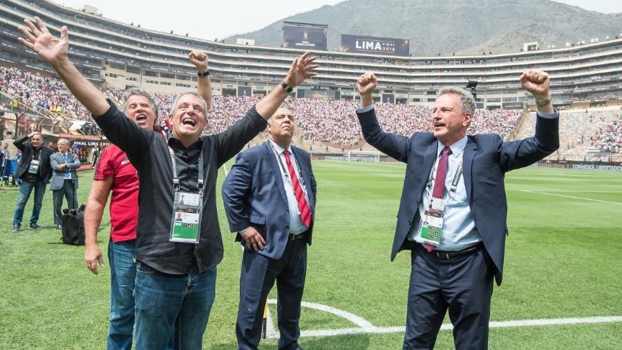Diretoria do Flamengo já se movimentava para a volta às atividades - Foto: Alexandre Vidal / Flamengo