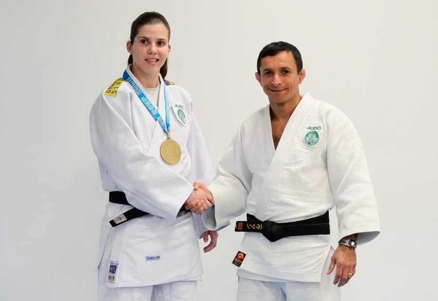 Alana Maldonado, atleta do Palmeiras, conquistou a medalha de ouro no Grand Prix de Judô de Baku, no Azerbaijão