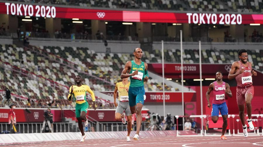 Alison dos Santos está na final dos 400 metros com barreiras nas Olimpíadas de Tóquio - REUTERS/Lucy Nicholson