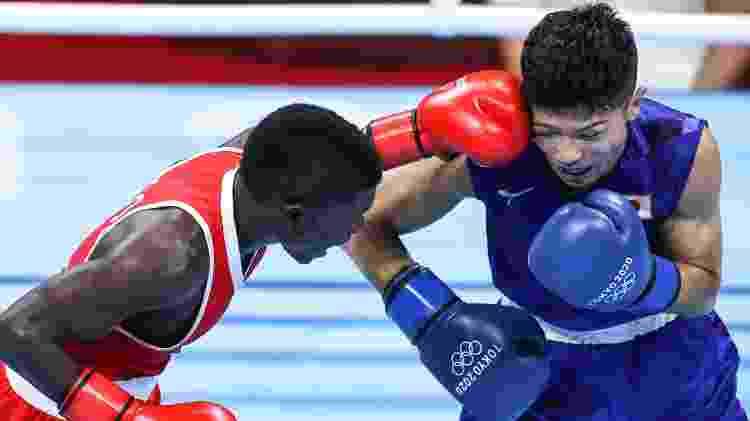 Ryomei Tanaka vence luta contra colombiano Yuberjen Martínez - Xinhua/Ou Dongqu - Xinhua/Ou Dongqu