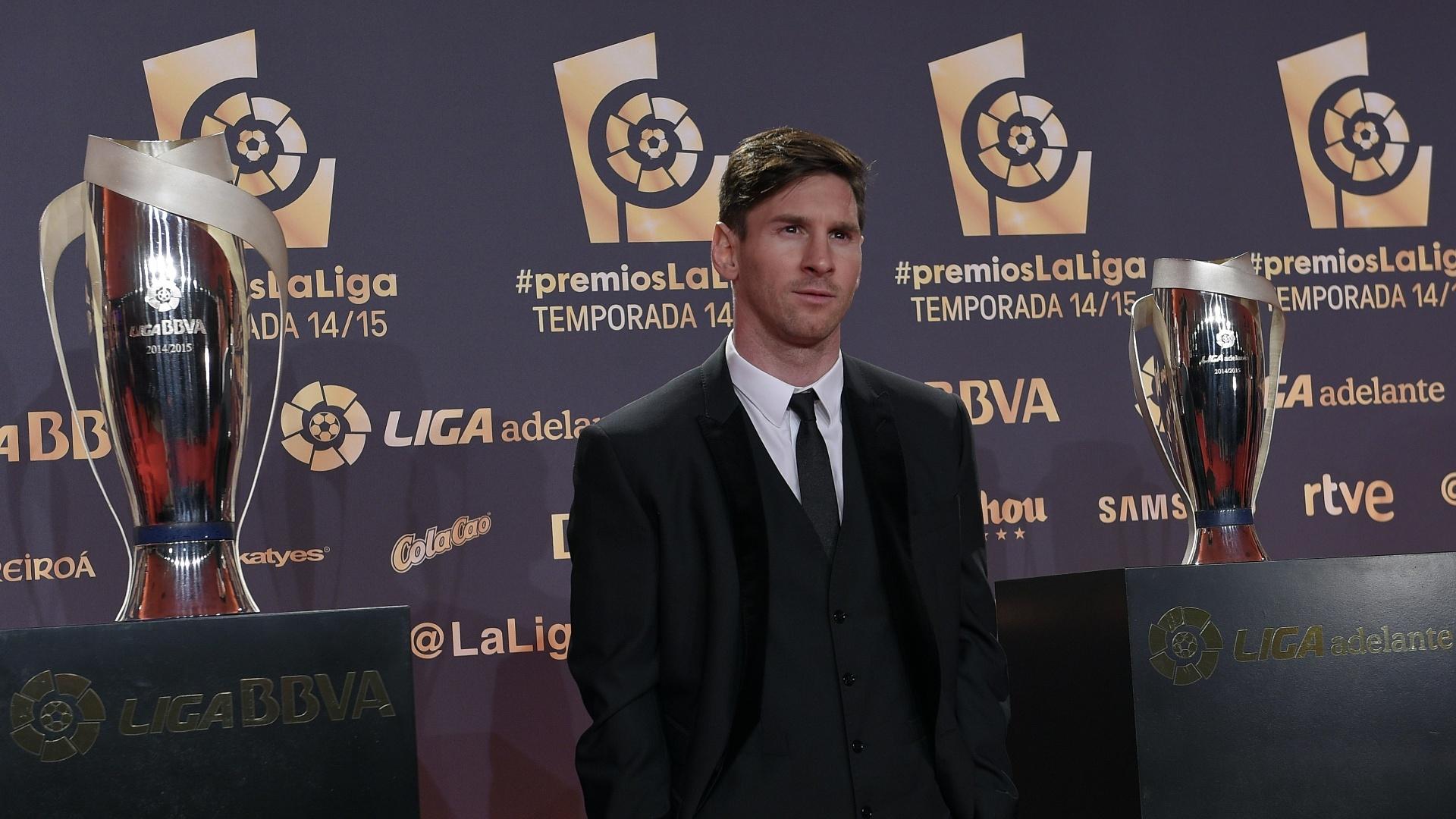 Lionel Messi também compareceu ao evento que premiará os melhores jogadores da temporada 2014/2015 do Espanhol