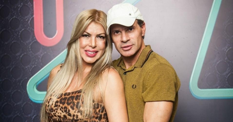 Túlio Maravilha e a mulher Cristiane Maravilha participaram do reality show Power couple da TV Record
