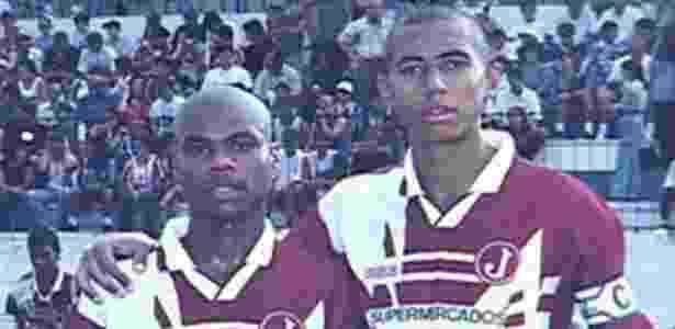 Luisão (à direita), hoje zagueiro do Benfica, em seu início de carreira pelo Juventus - Juventus