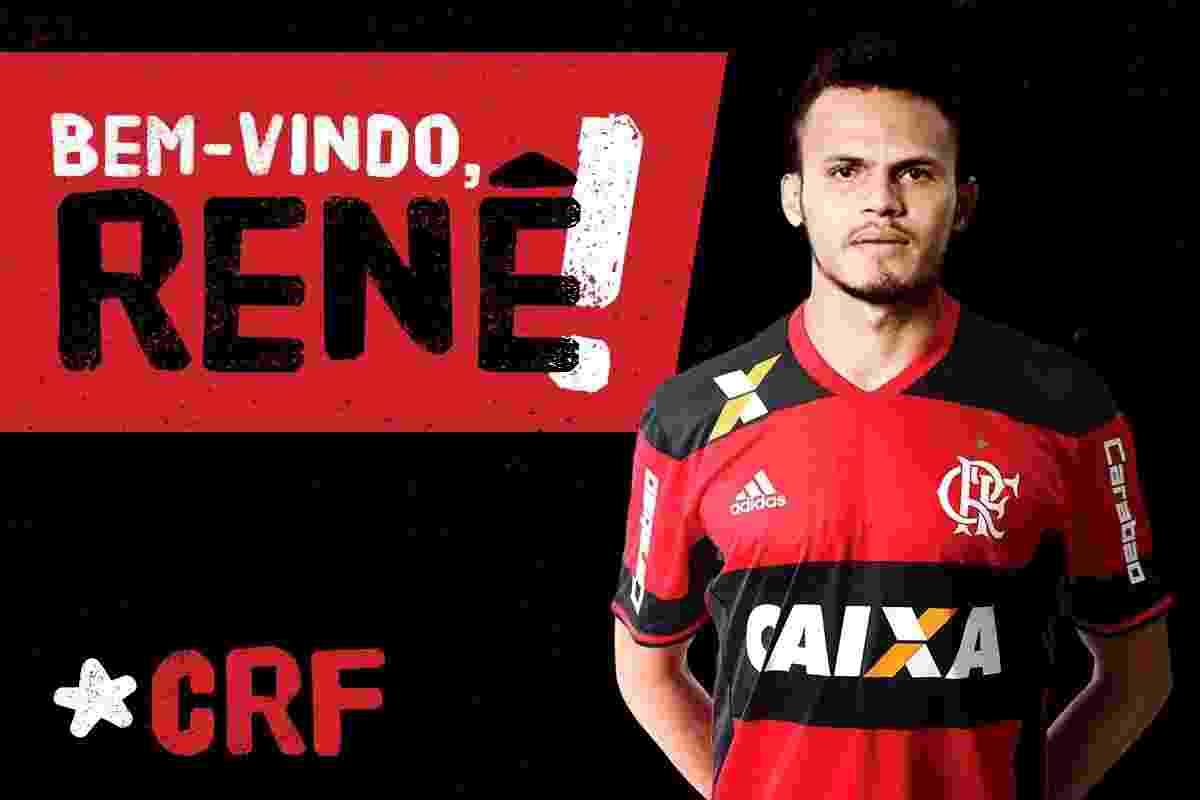 Renê, ex-Sport, é confirmado no Flamengo - Reprodução