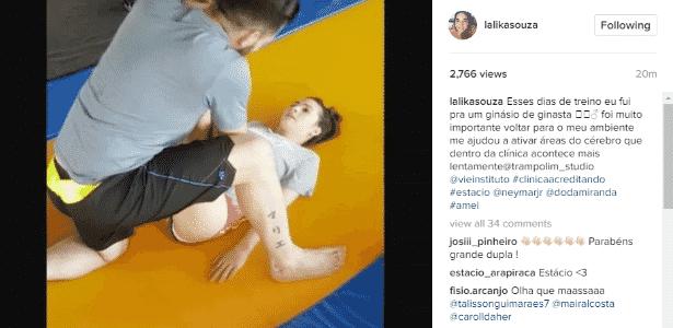 Lais Souza em ginásio de ginástica - Reprodução/Instagram - Reprodução/Instagram