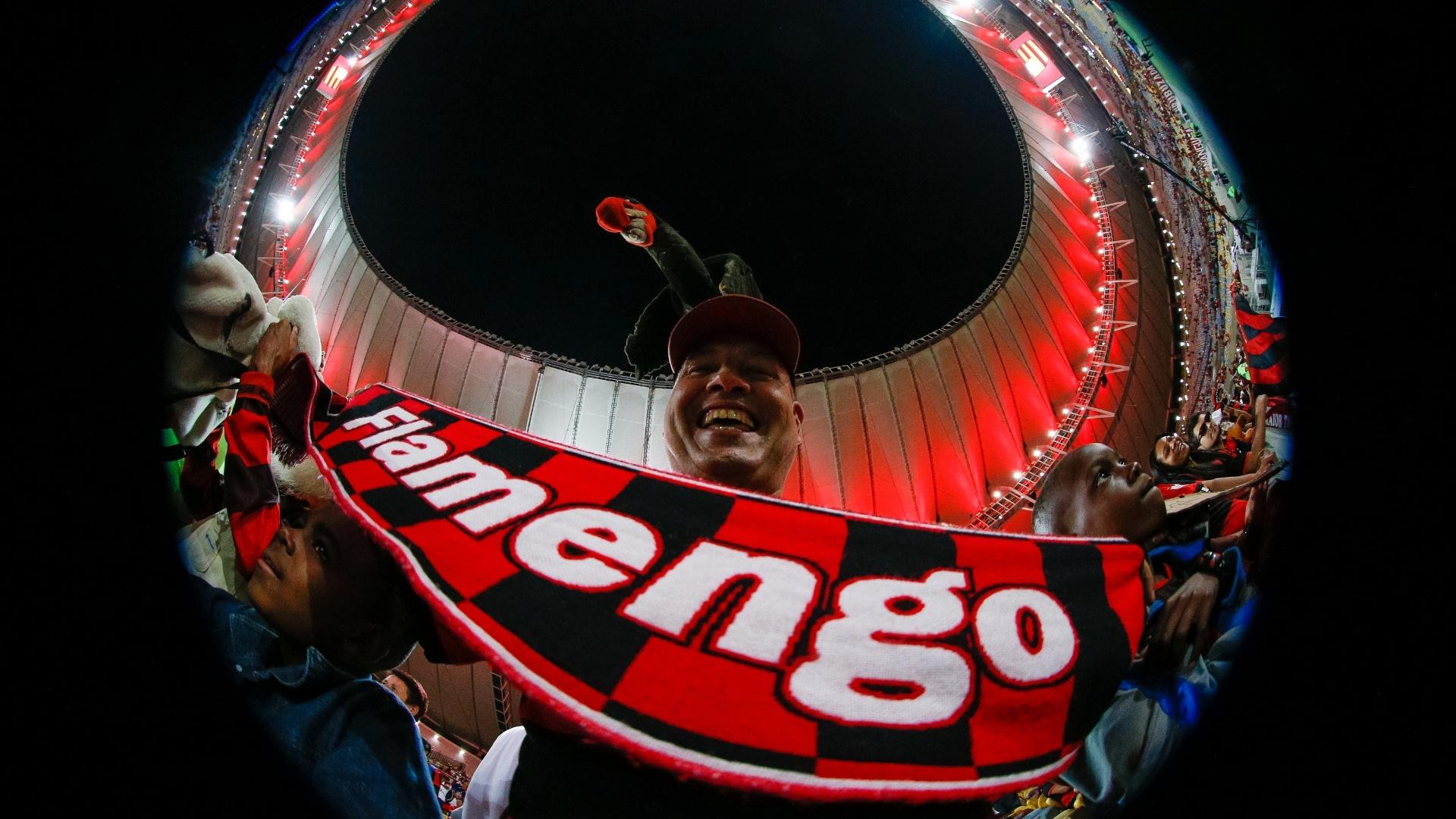 Torcedor do Flamengo em Flamengo x Cruzeiro, pela Copa do Brasil