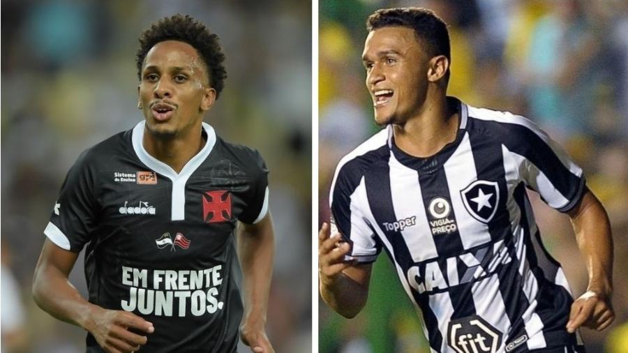 Lucas Mineiro e Erik: destaques de Vasco e Botafogo que vieram renegados de outros clubes - Rafael Ribeiro (Vasco.com.br) / Javier Gonzalez Toledo (AFP)