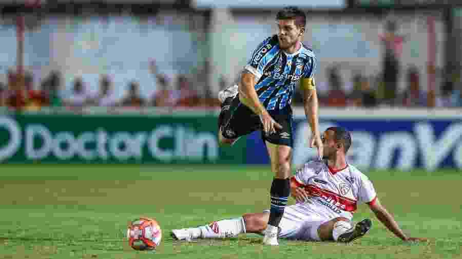 Argentino Kannemann, do Grêmio, é um dos estrangeiros que atuam no Brasil - LUCAS UEBEL/GREMIO FBPA