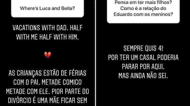 Carol Celico desabafa sobre solidão quando filhos estão com Kaká - Reprodução/Instagram
