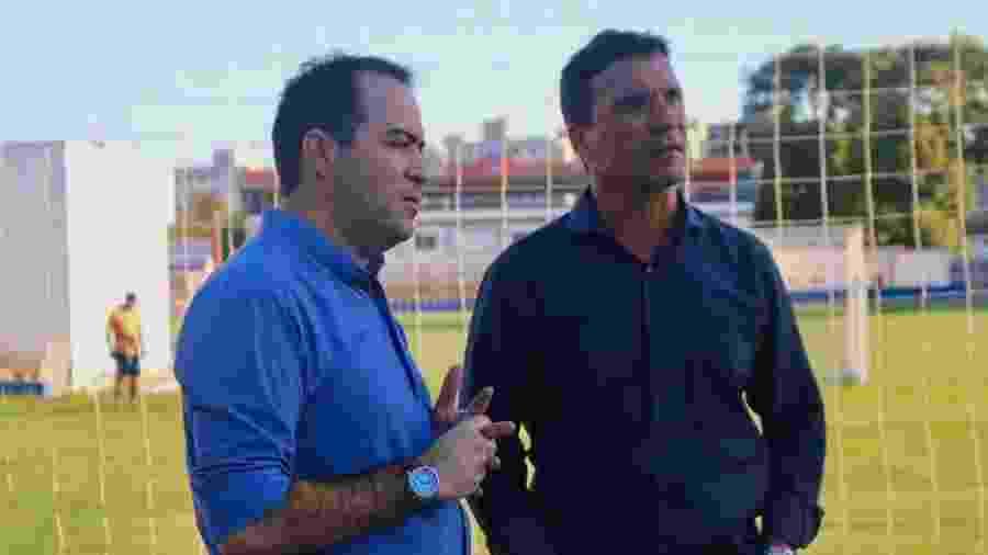 Zé Ricardo (dir.), técnico do Fortaleza, e o presidente Marcelo Paz - Leonardo Moreira / Fortaleza EC