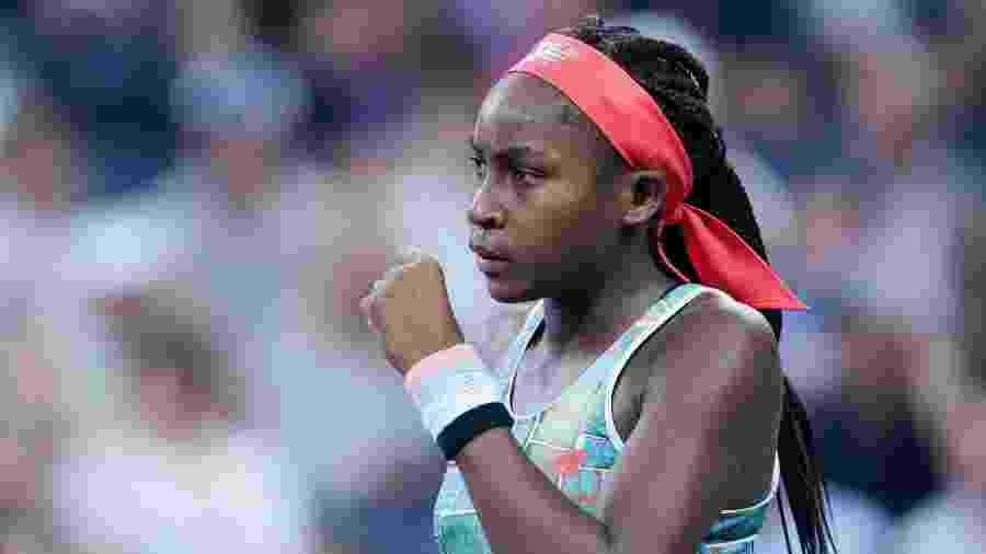 Coco Gauff, jovem jogadora de tênis, recebeu elogios de Serena Williams - Xinhua/Liu Jie