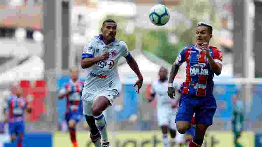 Bahia e Fortaleza empataram por 1 a 1 o duelo do primeiro turno, em Salvador - Felipe Oliveira/Bahia
