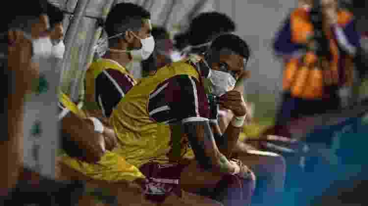 Coronavírus modificou a dinâmica do futebol, e o Fluminense sofreu com a parada - Lucas Merçon/Fluminense FC - Lucas Merçon/Fluminense FC