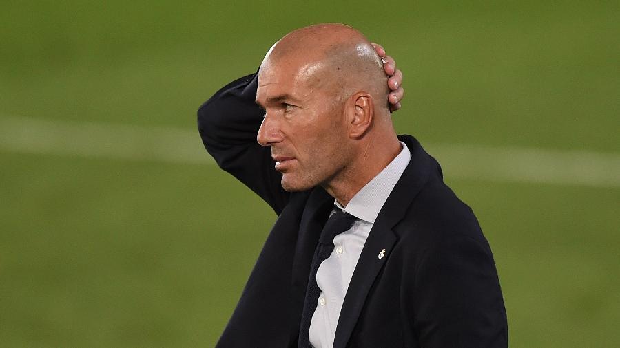 Zinedine Zidane, treinador do Real Madrid - Denis Doyle/Getty Images