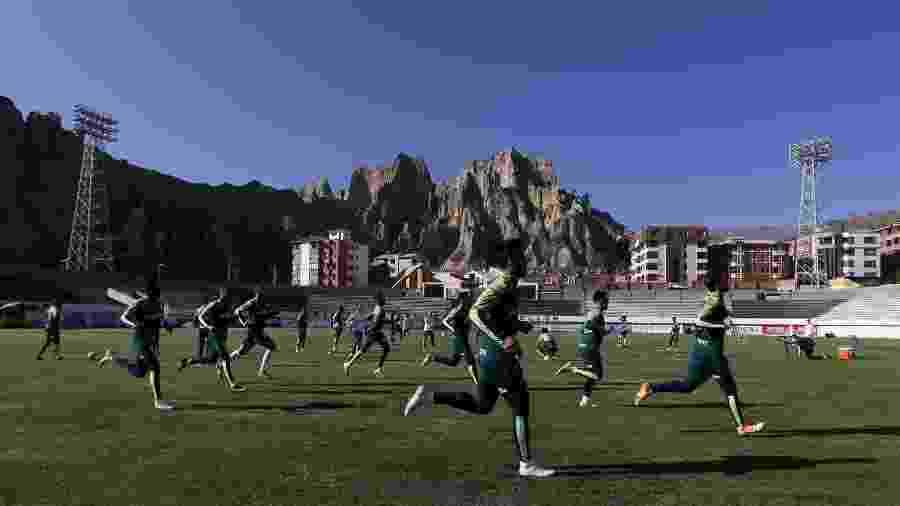 Palmeiras treina em La Paz antes de enfrentar o Bolívar pela fase de grupos da Libertadores - Cesar Greco