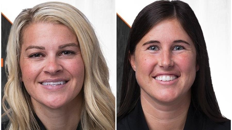 Jenna Schroeder e Natalie Sago, árbitras da NBA - Reprodução
