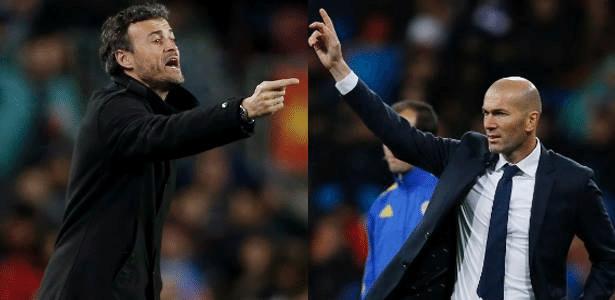 Luis Enrique e Zidane irão se enfrentar pela primeira vez como treinadores