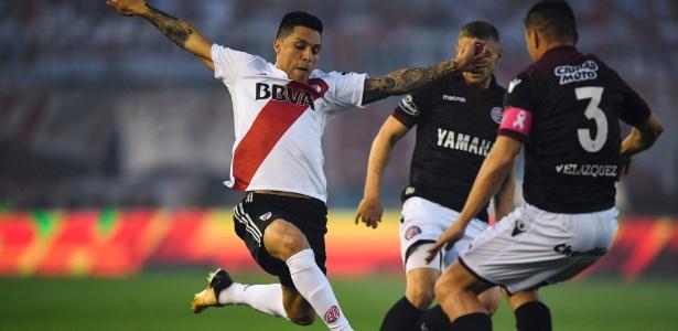 River Plate saiu na frente na semifinal da Libertadores - Eitan Abramovich/AFP