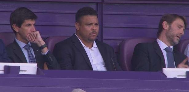 "Ronaldo vê jogo do Valladolid: presidente virou o ""talismã"" do time - Reprodução/beIN Sports"