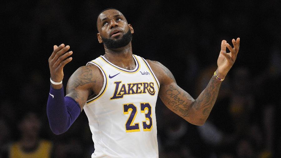 LeBron James do Los Angeles Lakers, que enfrenta o Toronto Raptors, às 21h30 (de Brasília) - Gary A. Vasquez/USA TODAY Sports