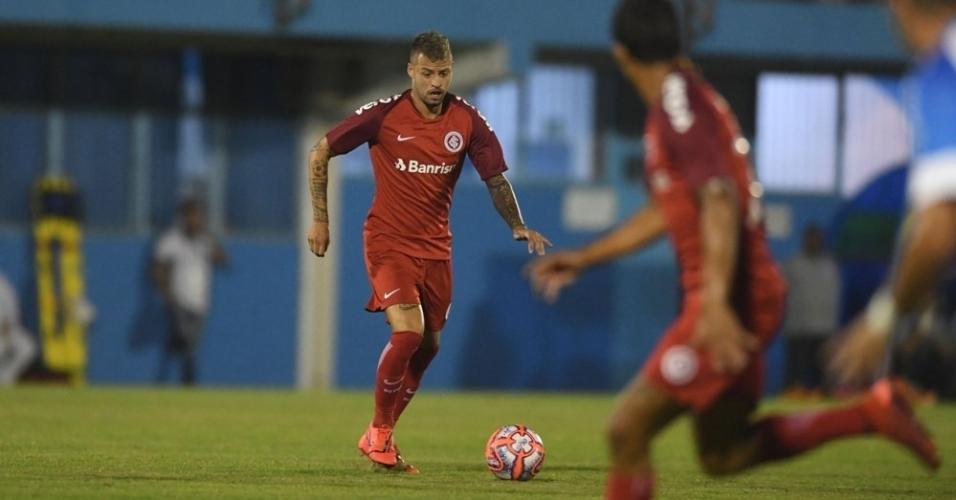 Nico López abriu o placar para o Inter contra o Novo Hamburgo