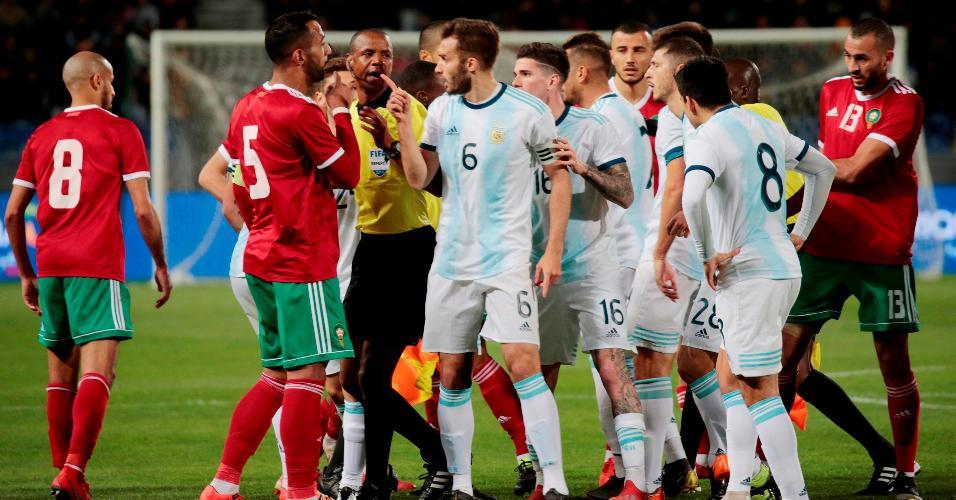 Marrocos enfrenta Argentina em amistoso marcado por confusões