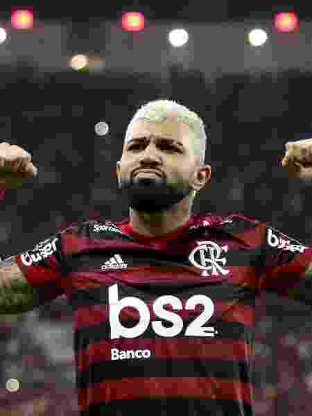 Gabigol comemora gol do Flamengo contra o Grêmio - Bruno Baketa/AGIF