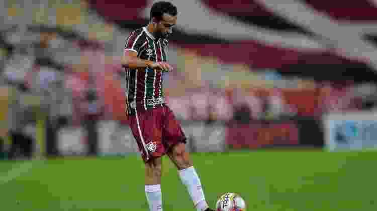 Nenê não repetiu boas atuações no Fluminense e não balançou as redes após retorno do futebol - Thiago Ribeiro/AGIF - Thiago Ribeiro/AGIF