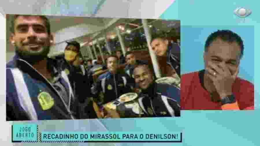 Jogadores do Mirassol mandam recado para Denílson após eliminação do São Paulo - Reprodução/Band