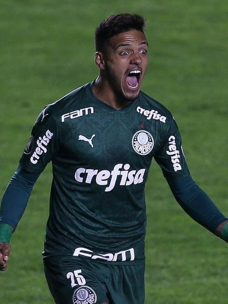 Gabriel Menino comemora o gol marcado pelo Palmeiras contra o Bolívar (BOL) - Cesar Greco