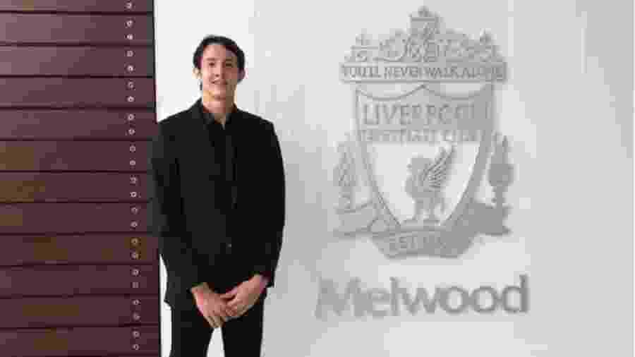 Marcelo Pitaluga é anunciado como reforço do Liverpool - Reprodução/Liverpool