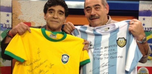 Rivellino mostra carinho por Maradona: 'Pessoa especial na minha vida'