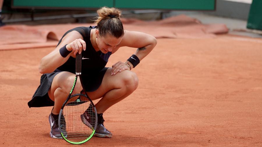 Aryna Sabalenka na terceira rodada de Roland Garros 2021