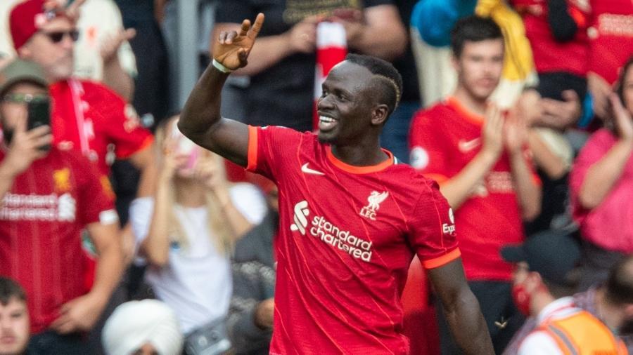 Mané marcou seu gol número 100 com a camisa do Liverpool - Reprodução/Twitter @LFC