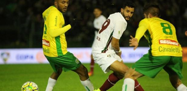 Henrique Dourado (foto) e Wellington estrearam pelo Fluminense em jogo no RS