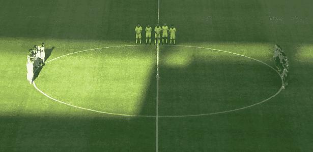 Um minuto de silêncio para João Pedro Braga antes de São Paulo x Botafogo - Premiere/Reprodução