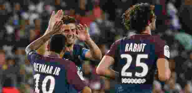 Thiago Motta e Neymar - Geoffroy Van Der Hasselt/AFP - Geoffroy Van Der Hasselt/AFP