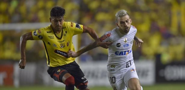 Lucas Lima sofreu lesão muscular no jogo de ida contra o Barcelona, no Equador
