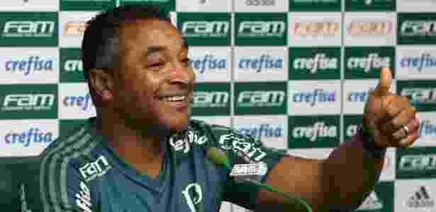 Roger não quis confirmar escalação do Palmeiras para o clássico - Cesar Greco/Ag. Palmeiras/Divulgação