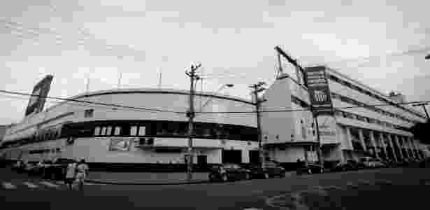 Fachada da Vila Belmiro - Ricardo Nogueira/Folhapress - Ricardo Nogueira/Folhapress