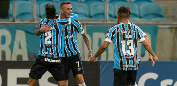 Luan marcou o gol da vitória do Grêmio diante do time uruguaio, nesta quarta-feira, na Arena