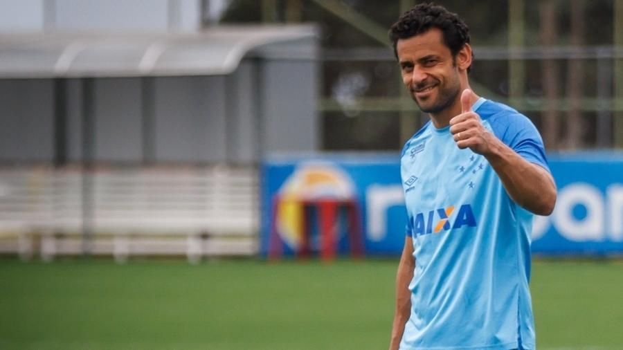 Atacante Fred, em treinamento do Cruzeiro - Vinnicius Silva/Cruzeiro