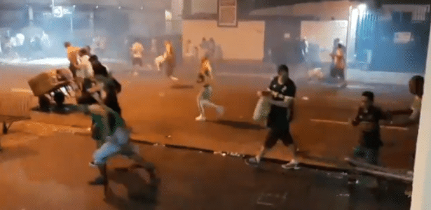 Corre-corre entre palmeirenses ocorreu após a PM se utilizar de bombas de efeito moral